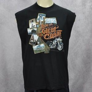 Harley Davidson Ride The West Coast Sleeveless